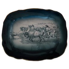 Buffalo Pottery Buffalo Hunt Serving Platter