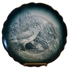1907 Buffalo Pottery Woodcock Plate - 9""