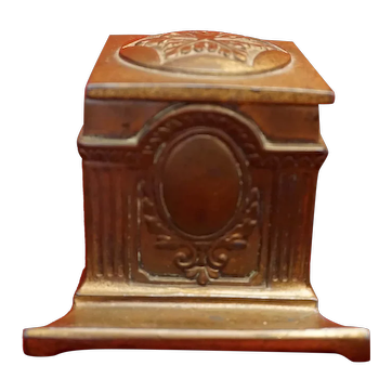 Jennings Brothers Bronze Inkwell With Pen Rest