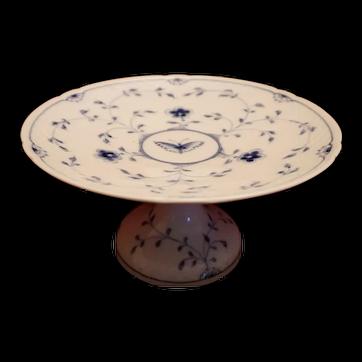 B&G Bing & Groendahl Blue Butterfly Pedestal Cake Plate