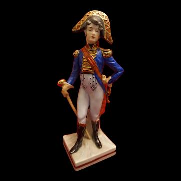 Sitzendorf Franz Tambour Porcelain Napoleonic Soldier