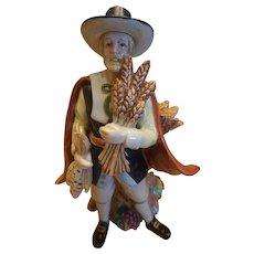 Fitz &Floyd Harvest Heritage Pilgrim Candle Holder