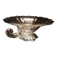 Vintage Heisey Clear Glass Cornucopia Console Bowl