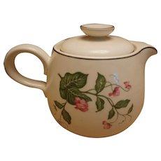 """Homer Laughlin """"Rhythm: Sweet Pea D55n4 Teapot"""