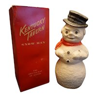 Vintage Kentucky Tavern Paper Mache Snowman With Box