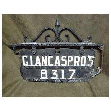 Vintage Cast Iron Sign