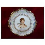 Rare Clarus Ware Queen Louise Of Prussia Portrait Plate