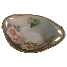 R.S. Silesia Footed Floral Bowl