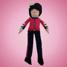 Norah Wellings Vintage Felt British Bobby Doll