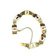 Bull Fight Damascene Vintage Bracelet