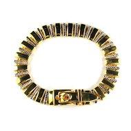 Goldtone and Silvertone Buckle Bracelet