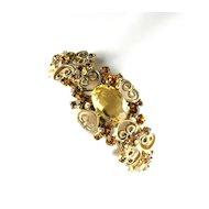 DeLizza and Elster Juliana Topaz Rhinestone Vintage Hinged Bracelet