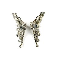 DeLizza and Elster Juliana Gray and Crystal Rhinestone Earrings