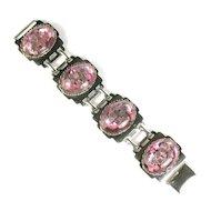 Purple Confetti Art Deco Style Vintage Bracelet