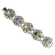 Colorful Cabochon Asian Design Bracelet