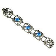 Art Nouveau Style Blue Vintage Bracelet