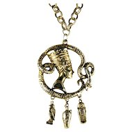 Egyptian Motif Pendant Necklace