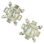 Large Crystal Rhinestone Earrings