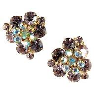DeLizza and Elster Juliana Lavender Flower Motif Earrings