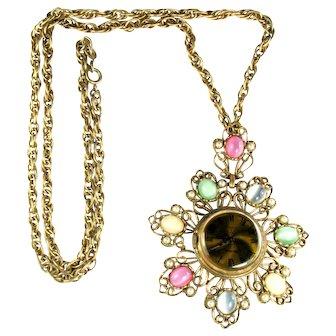 Vendome Pendant Watch Vintage Necklace