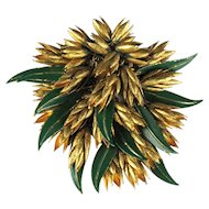 Haskell Vintage Leaves Brooch