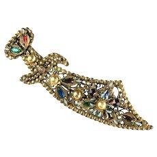 Korda Thief of Bagdad Vintage Sword Brooch