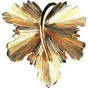 Napier Leaf Vintage Brooch