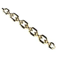 Vintage Buckles Goldtone Bracelet