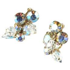 Kramer Rhinestone Vintage Earrings