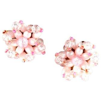 Pastel Pink Bead Earrings Germany