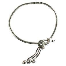 Trifari 1950s Vintage Asymmetrical Tassel Necklace