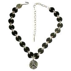 Peace Sign Vintage 1950s Necklace