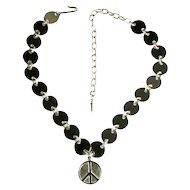 Peace Sign Vintage 1950s Necklace