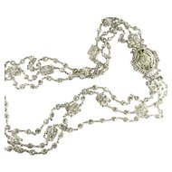 Barrera Crystal Rhinestone Belt Necklace