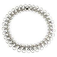 Trifari Vintage Squash Blossom Motif Collar Necklace