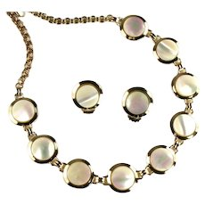 Mother of Pearl Disks Necklace and Bracelet