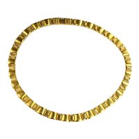 Matte Finish Goldtone Vintage Choker Necklace