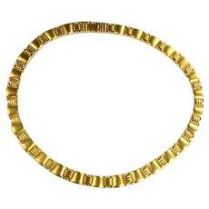 Matte Finish Goldtone Vintage Choker Necklace