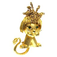 Chain Adorned Lion Pin by Mandle