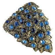 Little Nemo Vintage Blue Rhinestone Dress Clip