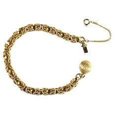 Byzantine Chain Goldtone Vintage Costume Bracelet