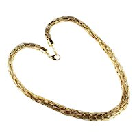 Goldtone Wheat Chain Graduated Size Necklace