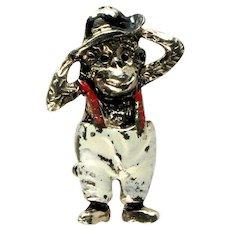 Vintage Magilla Gorilla Enamel Hat Suspenders Pants Figural Pin