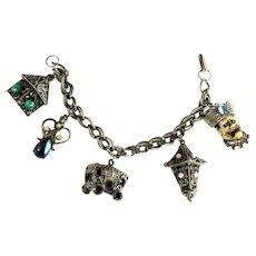 Vintage Florenza Romany Gypsy Theme Charm Bracelet