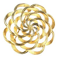 Trifari Textured Ribbon Swirls Vintage Brooch