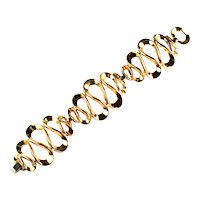 Trifari Goldtone Swirling Loops Bracelet