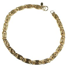 Erwin Pearl Vintage Paperclip Style Goldtone Chain Necklace