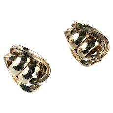 Sperry Vintage Goldtone Modernist Earrings