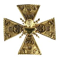 Accessocraft Vintage Maltese cross Large Brooch