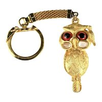 Rosenfeld by Florenza Vintage Scholarly Graduate Owl Motif Key Chain